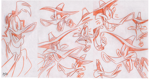 Darkwing Sketches (And a Launchpad) by Themrock