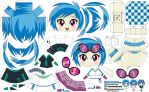 Vinyl Scratch (Joey's Chibi Girls 048) by ELJOEYDESIGNS