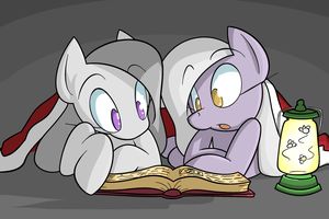 Reading with Inkie and Blinkie Commission by red-poni
