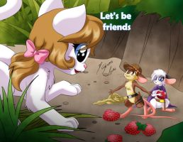 Comission - Let's be friends by Shinta-Girl