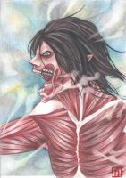 Eren's Titan by thecatinthedrawer