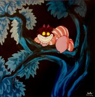 Cheshire Cat Canvas Painting by highray