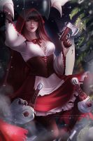 Red Riding Hood D. Va by OlchaS