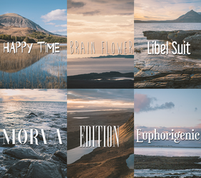 Font Pack 4 by crystalrayne24