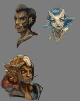 Practice painting with heads2 by mishinsilo