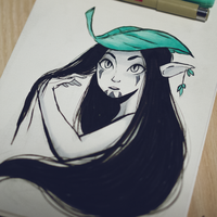 Day 5 - Inktober 2015 by Misspingu