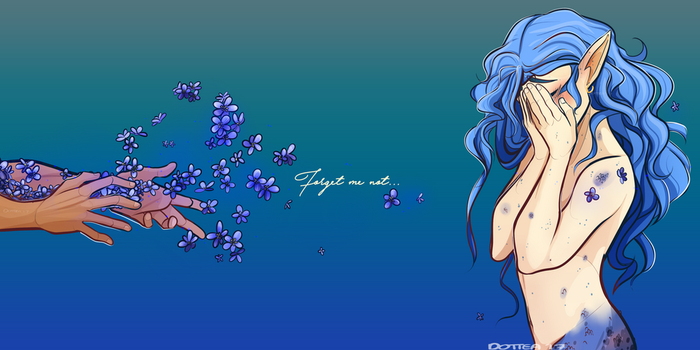 Forget Me Not - Pride Blue by Dottea