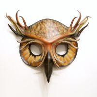 Owl Leather Mask Great Horned Owl by teonova