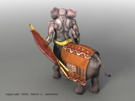 Low-Poly 3D character: Pachytaur by TheArtOfSanhueza