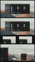 Nost Metro Dark Theme Win10 April 2018 Update by Cleodesktop