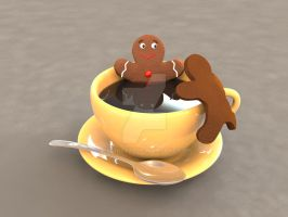Gingerbread Bath time, second version by smault23