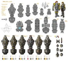 Stars in Shadow: Human Ship Design Thumbnails by AriochIV