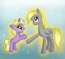Derpy and Dinky by PegasisterCake
