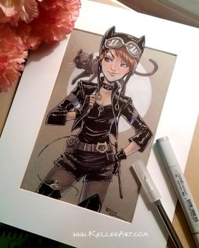 Teen Catwoman by KelleeArt