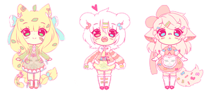 AUCTION - SWEET ADOPTABLES (CLOSED) by ElReitukiEsKanonGgg