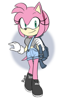 Amy Rose by HunterNinja70