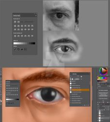 Eye painting and coloring tutorial by jayanam