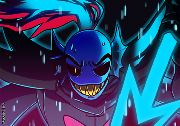 FIGHT Undyne by Arukardis