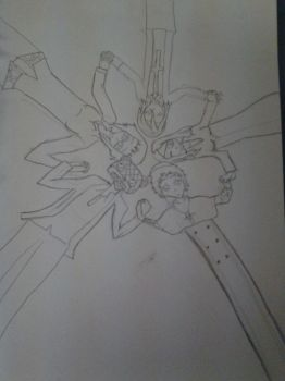 Soul Eater: Death Scythes (uncolored) by ilovescaryklowns