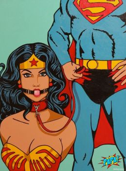 Superman and Wonder Woman (BDSM Submissive) by PAPA-PopArt