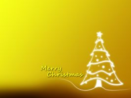 Christmas Wallpaper Yellow by EpiclyAlice
