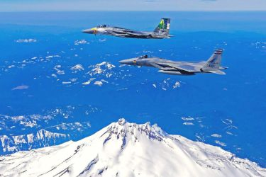 McDonnell Douglas F-15C Eagles of the Oregon ANG by GeneralTate