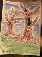 Colored Sumi Ink: Trees