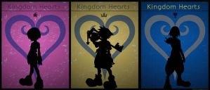 Kingdom Hearts Poster: Sora - Riku -Kairi - Trio by Mysitc-Mage