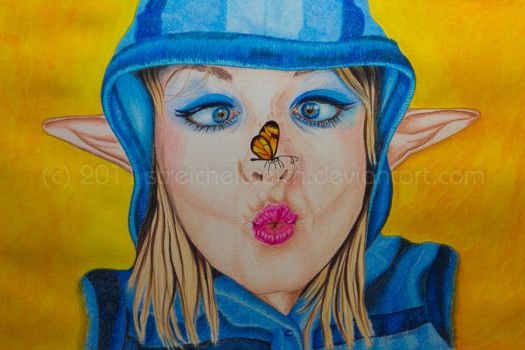 Miss Butterfly by TinasArtwork