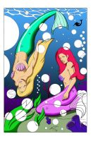 mermaids color by LLMachine