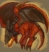 red proto-drake by NotParticularly