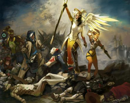 Mercy Guiding Her People by 4rca