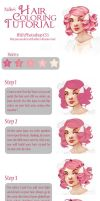 Hair coloring Tutorial by drawingum