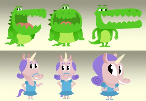 Character Design - Educational Game by Cosmic-Onion-Ring