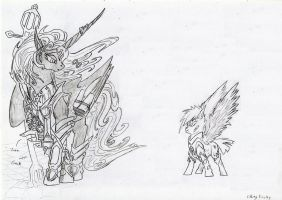 Star and Nyx - Sibling Rivalry sketch by Grimmyweirdy
