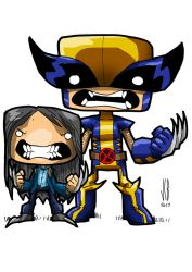 chubbies wolvie and x-23 by WOLVERINE76