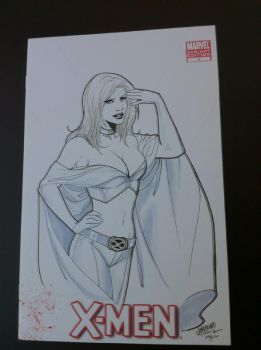Emma Frost Cover Commission EMANUELA LUPACCHINO by DeanSummers1