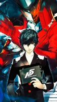 Persona 5 wallpaper for smartphone by De-monVarela