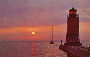 Vintage Michigan - A Charlevoix Sunset by Yesterdays-Paper