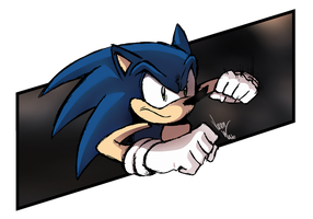 Sonic the Fighter by JAWProductions