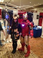 Loki and Iron Man cosplay by Romantically-Geeky