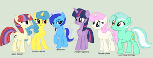 Twilight's conterlot friend group by Unknown-Amnesia