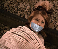 Debby Ryan Rope Tied and Tape Gagged by Goldy0123
