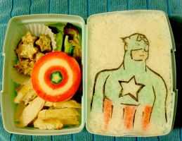 Captain America Bento by mindfire3927