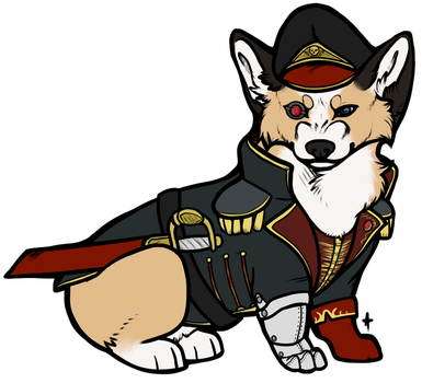 Commissar Corgi by stellified