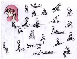 Sitting Poses by neduls