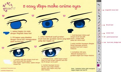 5 Easy Steps Make Anime Eyes (Indonesian Version) by AsamiChain17