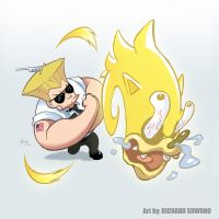 Guile and Vertical Sonicboom by r-chie