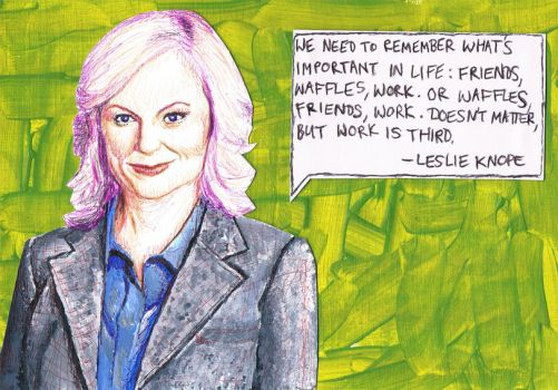 Leslie Knope is AWESOME! by SallyDoesArts