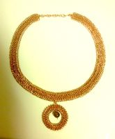 Copper Chainmail Necklace by KalisCoraven
